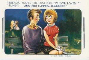 Brenda, You're the first girl I've ever loved..Bamforth Comic Ser. PC # 2087