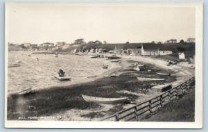 Postcard MA Cape Cod Chatham Mill Pond Boats Beach Shacks RPPC Photo c1920s C02