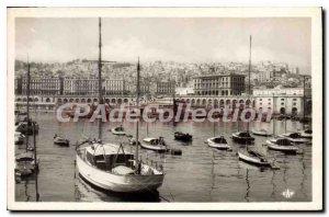Postcard Old Algiers Casbah view