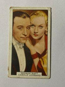 CIGARETTE CARD - GALLAHER FILM PARTNERS #47 GEORGE RAFT CAROLE LOMBARD    (UU21)