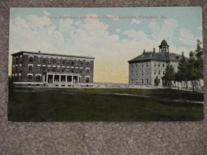 Girls Dormitory & Maine Central Institute, Pittsfield, Me., used Early 1900`s