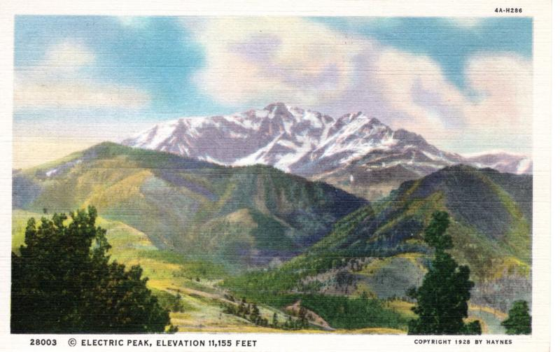 YELLOWSTONE NATIONAL PARK Haynes Linen Series.  28003.