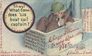 Boat Sail Captain  Postcard Post Cards Old Vintage Antique Postcard, Post Car...