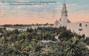 SAN DIEGO, California, PU-1915; CA Building & Puente Cabrillo from Washington...