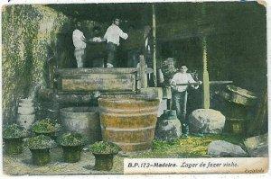 02396 ETHNIC vintage postcard: PORTUGAL - MADEIRA: WINE VINHO