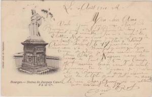 Statue de Jacques Coeur, Bourges, Cher France 1912