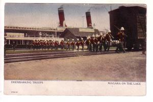 Disembarking Troops, Ship, Train, Niagara on the Lake, Ontario, Warwick 2723S