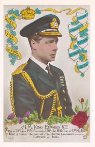 King Edward VIII Army Uniform New Zealand Tampex 1986 Exhibition Postcard