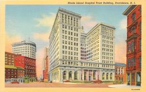 Providence Rhode Island~Hospital Trust Bldg~Boston Department Store 1938 Linen