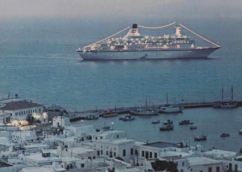 Royal Viking Line Cruise ship , MYKONOS , Greece , 1987
