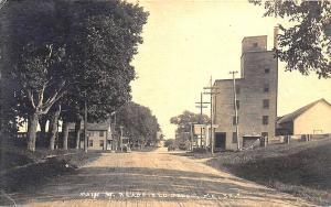 Readfield Depot ME Main Street Post Office Railroad Crossing RPPC Postcard