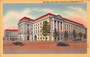 New Post Office Department, Washington, D.C., Early Linen Postcard, Unused