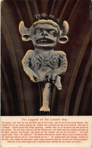 The Legend of the Lincoln Imp Statue 1913 Postcard