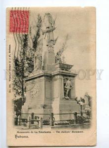 236407 CUBA HABANA students monument 1915 year RPPC Ethiopia