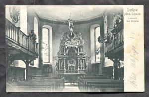 dc405 - BUCKOW Germany 1905 Church Interior