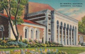 SACRAMENTO, California, PU-1943; Memorial Auditorium