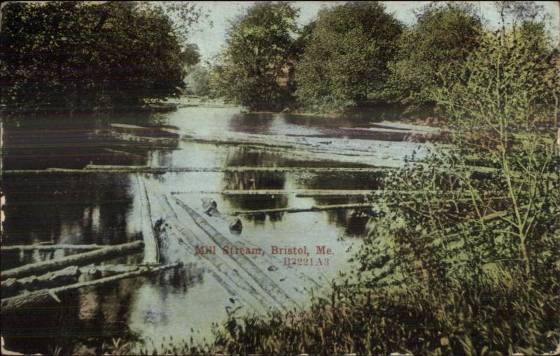 Bristol ME Mill Stream c1910 Postcard