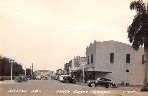 Punta Gorda Florida Marion Avenue Real Photo Vintage Postcard AA23458