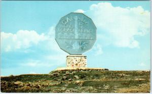 SUDBURY, ON Canada    The BIG NICKEL MONUMENT   c1960s  Roadside  Postcard