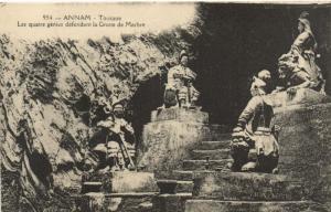CPA Vietnam Indochine ANNAM Tourane - Les quatre génies (62130)