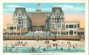 Hotel Dennis, Atlantic City N. J.  early 1900s unused Pos...