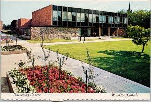 University of Windsor Ontario University Centre c1978 Postcard C3