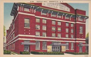 South Carolina Greenville The Textile Hall