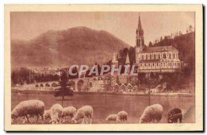 Old Postcard Lourdes Basilica And The Pic du Jer
