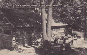 One of the 8 sleeping lodges hidden valley ranch, Lake Luzerne, New York, 00-10s