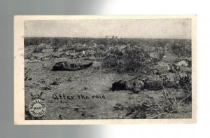 Mint Mexico Revolution RPPC Dead Bodies After the Raid real picture postcard