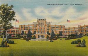 Little Rock AR~Senior High School & Grounds~1940 Postcard