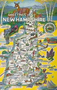 New Hampshire Greetings With Map