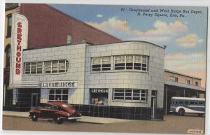 Greyhound & W Ridge Bus Depot, Erie PA