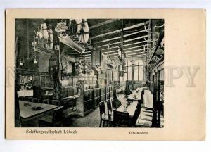 190532 GERMANY Restaurant LUBECK interior Vintage postcard