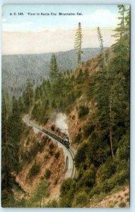 SANTA CRUZ MOUNTAINS, California CA ~ Railroad TRAIN ca 1910s  Postcard