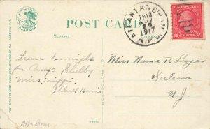 R. P. O. Cancel 1908 Atlantic & Birmingham. Railway Post Office Cancel Cover