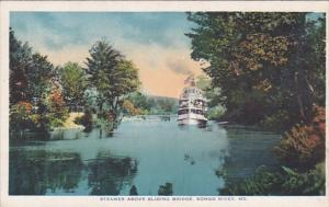 Steamer Above Sliding Bridge, Songo River, Maine, 00-10´s