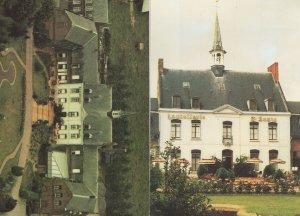 Hostellerie St Saint Louis Bollezeele Map French 2x Postcard
