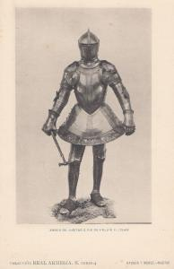 Philip Felipe 2 II King Of Portugal & also 3 Spain Knight Armour Old Postcard