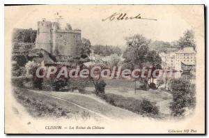 Postcard Ancient Ruins Clisson Du Chateau