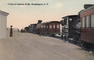 MT. WASHINGTON , New Hampshire , 00-10s ; Trains at Summit