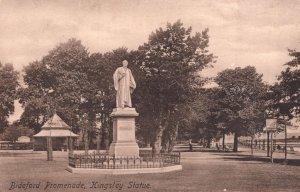 Bideford Devon Promenade Kingsley Statue Old WW1 Postcard