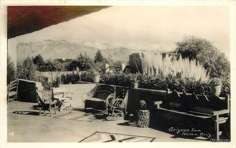 1940s Tucson Az Rppc Arizona Inn Patio Southwest Patio Furniture Postcard 9428 Hippostcard