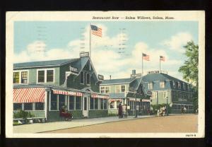 Salem Willows, Salem, Massachusetts/MA/Mass Postcard, Restaurant Row, 1956!