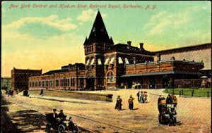 Rochester NY - New York Central and Hudson River Railroad Depot, 1920s