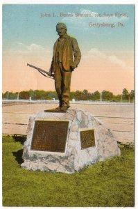 Gettysburg, Pa., John L. Burns Statue, 1st Days Field