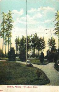D/B Scene in Woodland Park Seattle Washington WA 1908