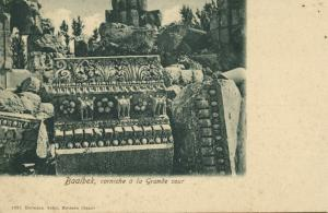 lebanon, BAALBECK BAALBEK, Corniche a la Grande Cour (1899) Seibt No. 1951
