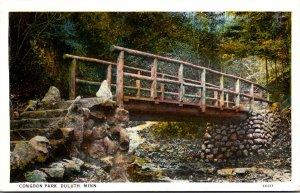 Minnesota Duluth Congdon Park Rustic Bridge Curteich