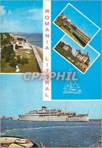 Postcard Modern Romania Litoral Boat
